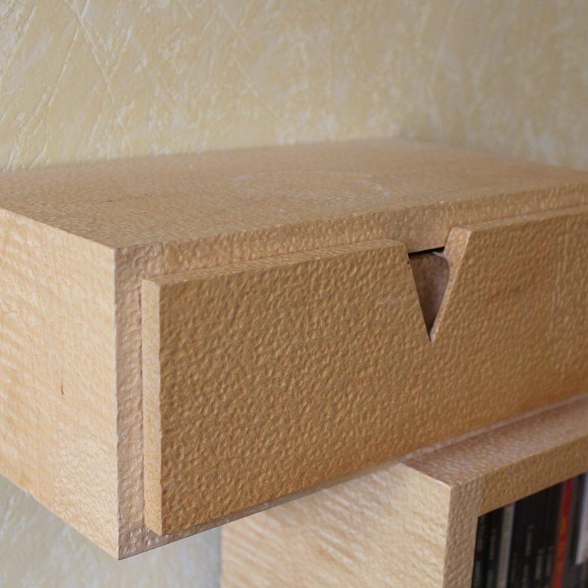 bois texturé érable bureau sur mesure ébénisterie