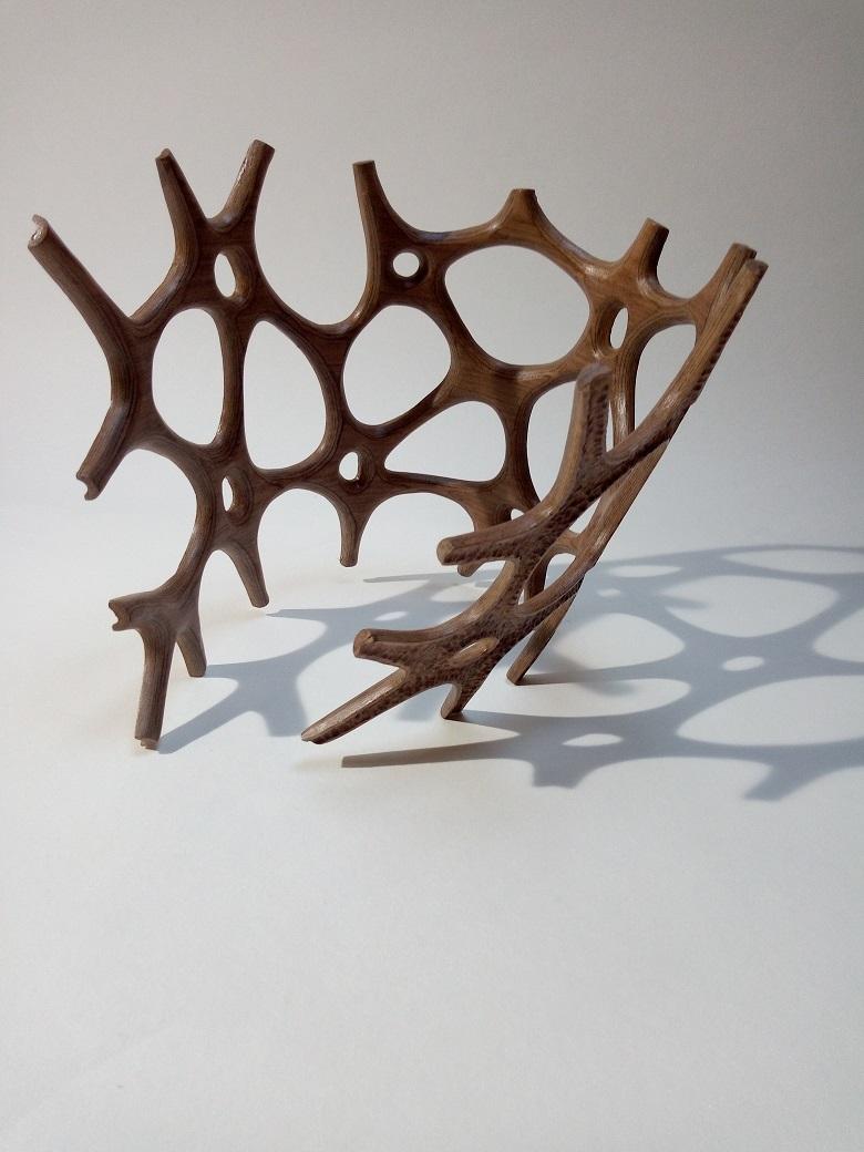 sculpture noyer finition texturé